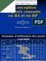 Presentation La Conception Des Ponts Courants en BA Et en BP