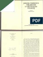 Jakuba Parkosza Traktat o Ortografii Polskiej Cz. 1