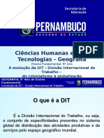 A Evolução Da DIT - Divisão Internacional Do Trabalho - Do Colonialismo à Globalização