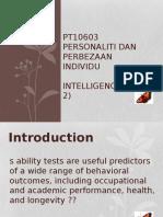 Wk 8 - Intelligence (Part 2)