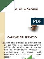La Calidad en El Servicio