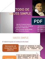 METODO DE GAUSS SIMPLE