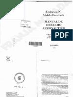 Manual de Derecho Aeronautico - Videla Escalada.