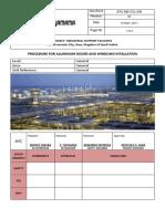Aluminum Doors and Windows Procedure