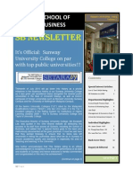 School of Business Newsletter - Summer 2010 (May – July) Volume 1