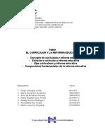 Ejes de La Reforma Educativa y Su Relación Con Los Ejes Del Curriculum Expo Lic Moy