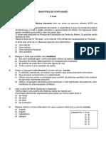 Simulado 1º Eja e 3º a e b - Língua Portuguesa e Literatura