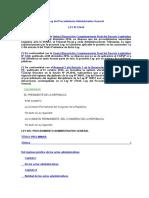 LEY Nº 27444 - Ley Del Procedimiento Administrativo General
