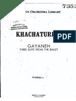 Gayaneh Clarinet I