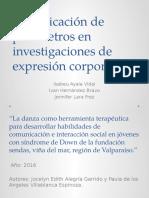 Identificación de Parámetros en Investigaciones de Expresión Corporal