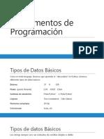 Unidad 2 - Variables y Tipos de Datos (a)