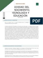 Sociedad Del Conocimiento, Tecnología y Educacion