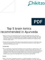 Top 5 Brain Tonics Recommended in Ayurveda