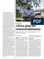 207. Africa Aims for Research Autonomy
