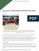 Risk-based Methods Optimize Maintenance Work Scope - Oil & Gas Journal