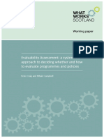 WWS Evaluability Assessment Working Paper Final June 2015