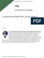 La Energía Libre de Nikola Tesla, ¿Es Real o Ficción_ « Oldcivilizations's Blog