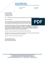Referral of complaint to Linn County Attorney