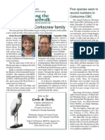 January 2010 Along the Boardwalk Newsletter Corkscrew Swamp Sanctuary