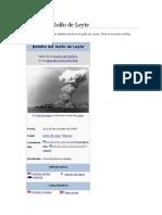 Guerra Golfo Leyte