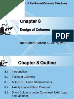 Chapter8 Column Design | Column | Bending