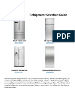 Refrigerator Selection Guide