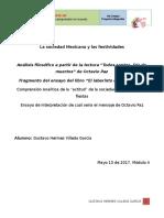 Ensayo interpretativo del ensayo de Octavio Paz -Todos santos, día de muertos Villeda_Gustavo_proyectointegrador.docx
