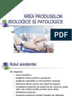 Recoltarea Produselor Biologice Si Patologice Pptx