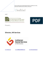Lutheran Social Service of MN - Director, HR Services