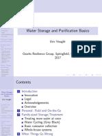 Water Storage and Purification Basics- Slides