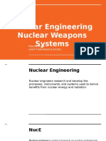 nuclear engineering nuclear weapons systems