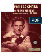 Tips on Popular Singing - Frank Sinatra