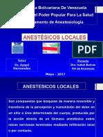 Seminario Anestesicos Locales Anestesiologia