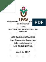 Historia Del Basquet en Mexico