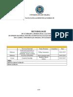 METODOLOGIE Acordare Burse FMF Pentru CF