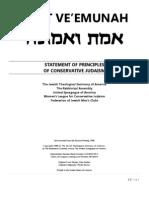 emet ve'emunah - statement of principles of conservative judaism