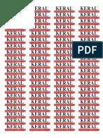 etiqueta KERAL