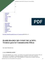 HABILIDADES de COMUNICACIÓN_ Técnicas Para La Comunicación Eficaz