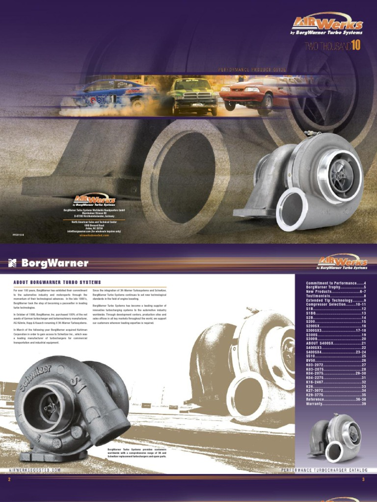 Turbos Borgwarner Catalog | Turbocharger | Turbine