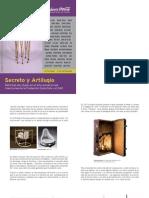 Secreto y artilugio folleto mano