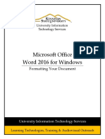 Word 2016 Pc Formatting Your Document 17gabh09