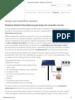 Aplicaciones Fotovoltaicos - Energía Solar y Eólica en Peru