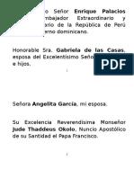 Palabras del Canciller Miguel Vargas en acto Condecoración Embajador de Perú