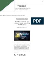 7 Tendências de Marketing Digital Para 2017 - Agência Tribo