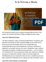 Primer Día de la Novena a María Auxiliadora