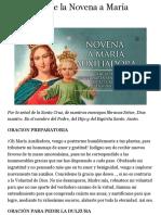 Tercer Día de la Novena a María Auxiliadora