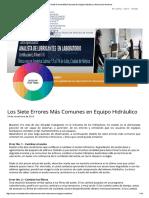Los Siete Errores Más Comunes en Equipo Hidráulico _ Noria Latín América