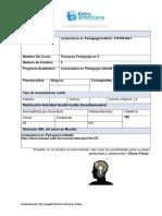 Programa Analitico.procesos Pedagogicos v Lic. Infantil 2016-2