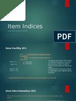 Ch. 3 Item Indices