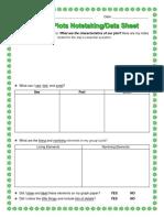 3rd - outdoor plots student data sheet